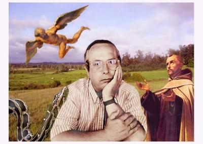 Auto-retrato con Juan de Yepes e ícaro