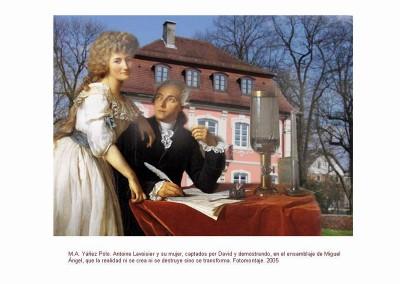 Antoine Lavoisier y su mujer