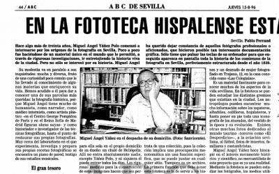 15 de agosto de 1996: En la Fototeca Hispalense está la historia gráfica de Sevilla
