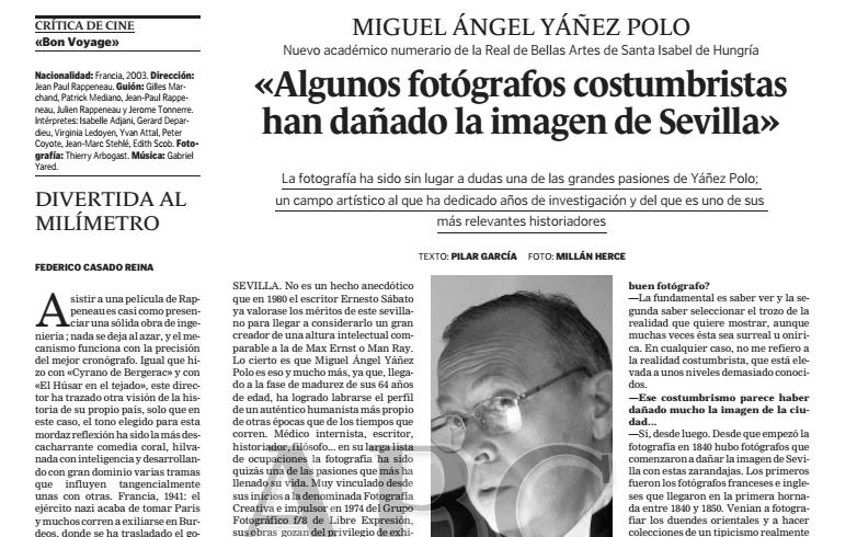 1 de Febrero de 2004: Entrevista en diario ABC Sevilla