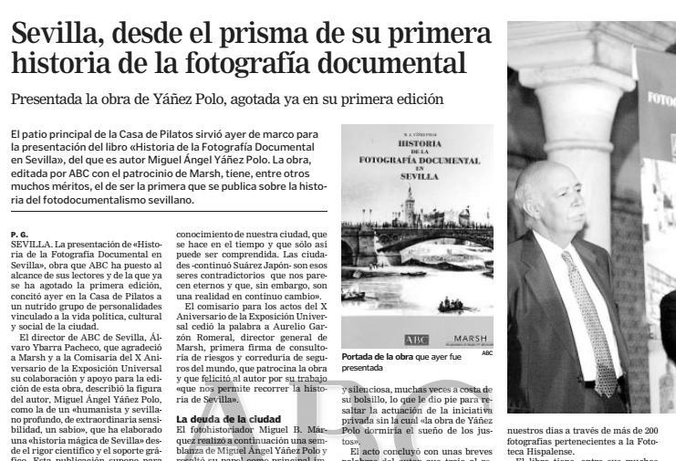 17 de julio de 2002: Presentación del libro Historia de la Fotografía Documental